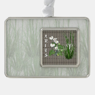 Bamboo and Lily Aries Christmas Ornament