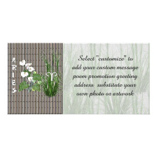 Bamboo and Lily Aries Picture Card
