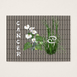 Bamboo and Lily Cancer Business Card