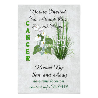 Bamboo and Lily Cancer Card