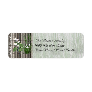 Bamboo and Lily Cancer Label