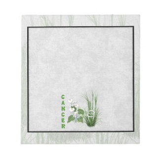 Bamboo and Lily Cancer Notepad