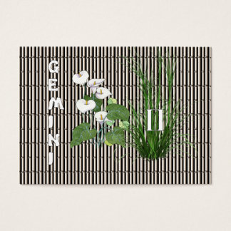 Bamboo and Lily Gemini Business Card