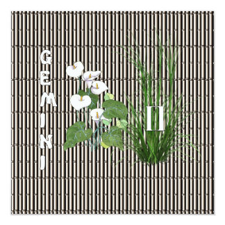 Bamboo and Lily Gemini Card