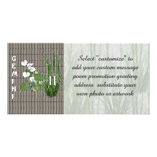Bamboo and Lily Gemini Photo Card