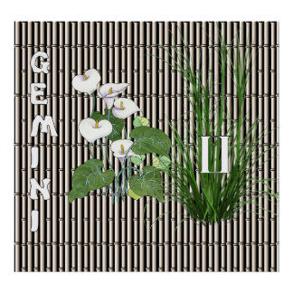 Bamboo and Lily Gemini Poster
