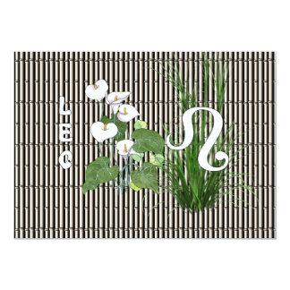 Bamboo and Lily Leo Card