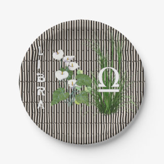 Bamboo and Lily Libra 7 Inch Paper Plate