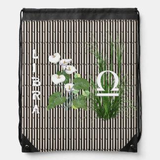 Bamboo and Lily Libra Drawstring Bag