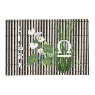 Bamboo and Lily Libra Laminated Placemat