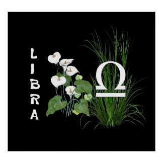 Bamboo and Lily Libra Poster