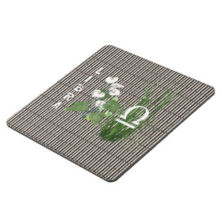 Bamboo and Lily Libra Puzzle Coaster