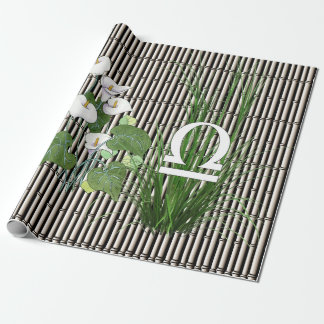 Bamboo and Lily Libra Wrapping Paper