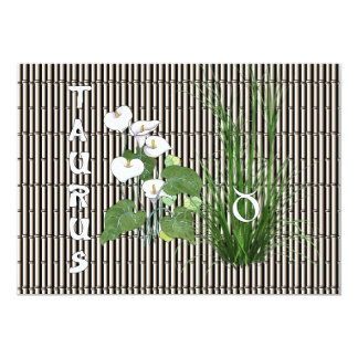 Bamboo and Lily Taurus Card