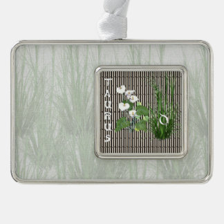 Bamboo and Lily Taurus Ornament