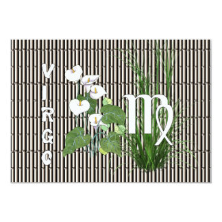 """Bamboo and Lily Virgo 5"""" X 7"""" Invitation Card"""