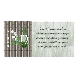 Bamboo and Lily Virgo Photo Card