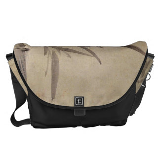 Bamboo and Orchid - Gang Self (1713-1791) Messenger Bags