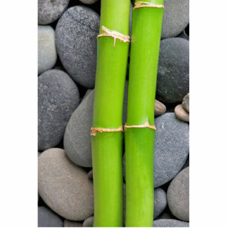 Bamboo and pebble statuette