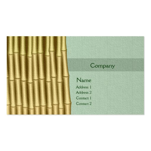 Bamboo and Sage Double Sided Standard Business Cards Pack