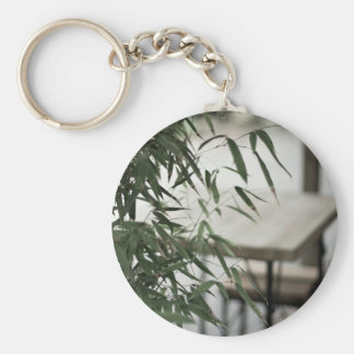 Bamboo and Wood Keychain