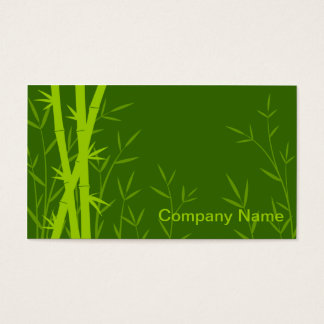 Bamboo background business card