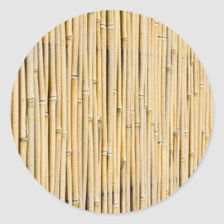 Bamboo background classic round sticker