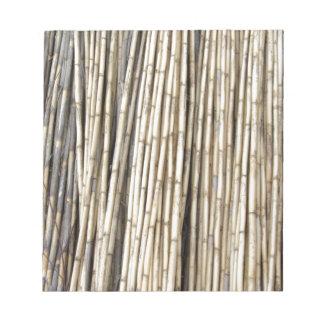 Bamboo background notepad