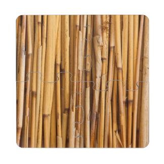 Bamboo Background Puzzle Coaster
