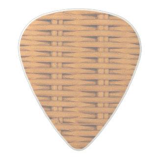 Bamboo Basket Weave Acetal Guitar Pick