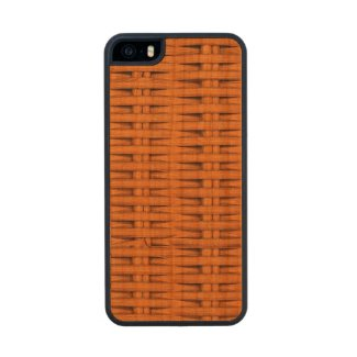 Bamboo Basket Weave Carved® Cherry iPhone 5 Case
