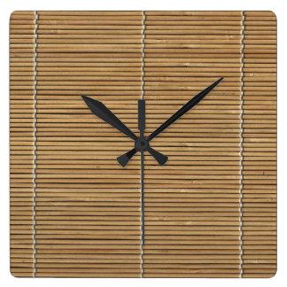 Bamboo Beach Mat Square Clock