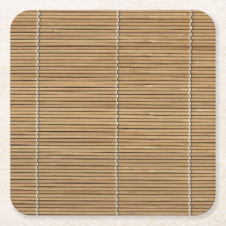 Bamboo Beach Mat Square Paper Coaster