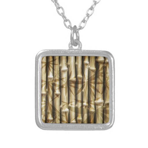BAMBOO BEAUTY SQUARE PENDANT NECKLACE