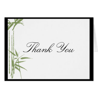 Bamboo Beauty Thank You card