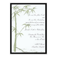 Bamboo Beauty Wedding Invitation