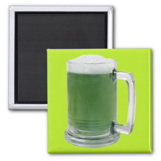Bamboo Beer 2 Inch Square Magnet