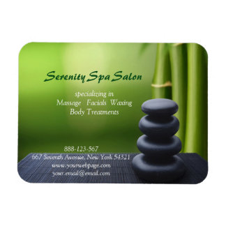 Bamboo Black Stone Massage Spa Salon Magnet
