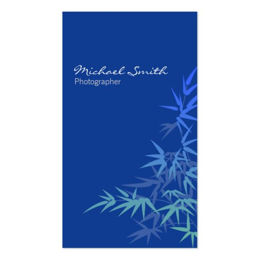 Bamboo Blue Business Cards