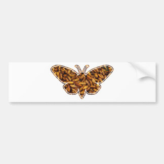 Bamboo Borer Moth Life Cycle Silhouette Bumper Sticker