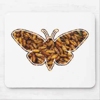 Bamboo Borer Moth Life Cycle Silhouette Mouse Pad