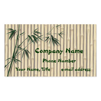 Green Bamboo Leaves Business Cards 1 400 Green Bamboo
