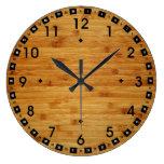 Bamboo Butcher Block Clock