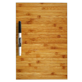 Bamboo Butcher Block Dry-Erase Board