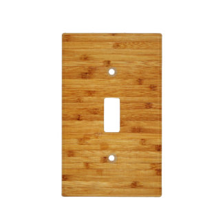 Bamboo Butcher Block Light Switch Cover