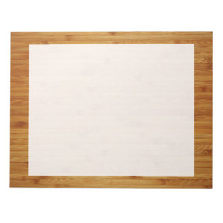Bamboo Butcher Block Notepad