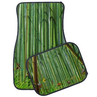 Bamboo & Butterfly Art 1 Floor Mats