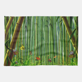 Bamboo & Butterfly Art 1 Kitchen Towel