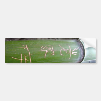 Bamboo Calligraphy Bumper Stickers