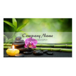 Bamboo Candle Stone Orchid Spa Massage Therapy Double-Sided Standard Business Cards (Pack Of 100)